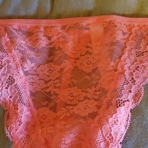 PINK Victoria's Secret Intimates & Sleepwear - Pink VS coral lace g string